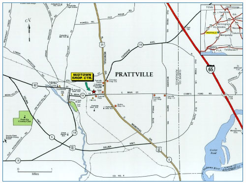 Prattville, Alabama Map